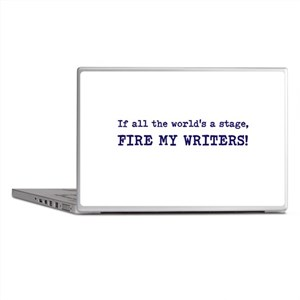Fire my writers Laptop Skins