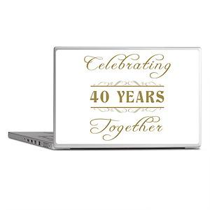 Celebrating 40 Years Together Laptop Skins