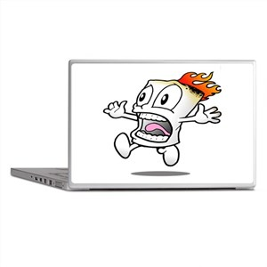 Funny Flaming Marshmallow Laptop Skins