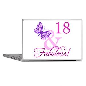 Fabulous 18th Birthday For Girls Laptop Skins