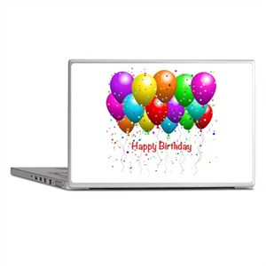 Happy Birthday Balloons Laptop Skins