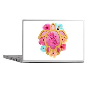 Hawaiian Pink Honu Laptop Skins
