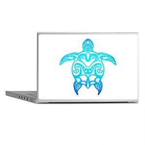 Ocean Blue Tribal Turtle Laptop Skins