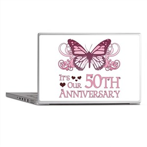 50th Wedding Aniversary (Butterfly) Laptop Skins