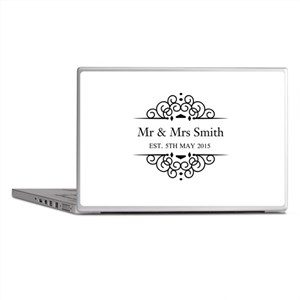 Custom Couples Name and wedding date Laptop Skins