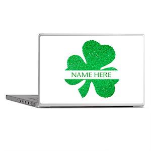 Custom Name Shamrock Laptop Skins