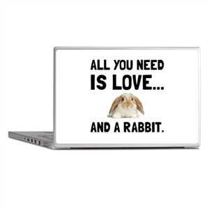 Love And A Rabbit Laptop Skins