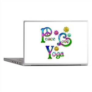 Peace Love Yoga Laptop Skins