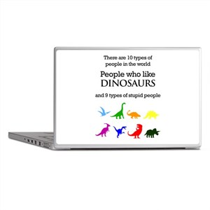 Ten Types Of People (Dinosaurs) Laptop Skins