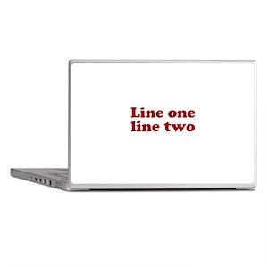 Two Line Custom Message in Dark Red Laptop Skins