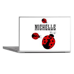 Cute Red   Black Ladybugs Name Laptop Skins