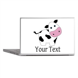 Personalizable Black and White Cow Laptop Skins