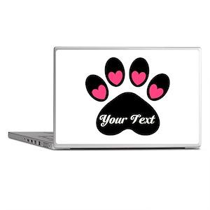 Personalizable Paw Print Laptop Skins