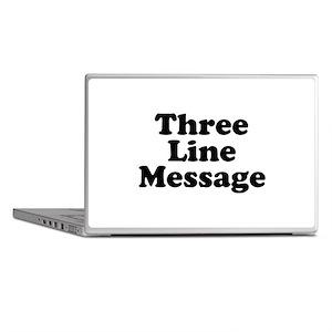 Big Three Line Message Laptop Skins