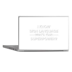 I know sign language (white) Laptop Skins