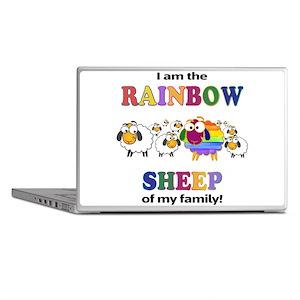 Rainbow Sheep Laptop Skins