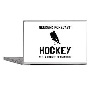 Weekend Forecast Hockey Laptop Skins