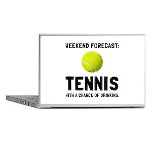 Weekend Forecast Tennis Laptop Skins