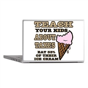 Teach Kids About Taxes Laptop Skins