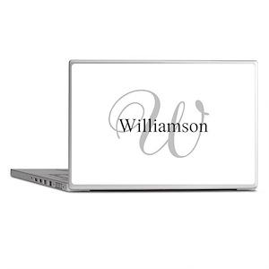 CUSTOM Initial and Name Gray/Black Laptop Skins