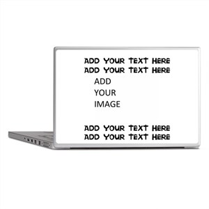 Custom Text and Image Laptop Skins