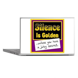 Silence Is Golden Laptop Skins