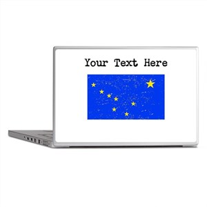 Alaska State Flag (Distressed) Laptop Skins