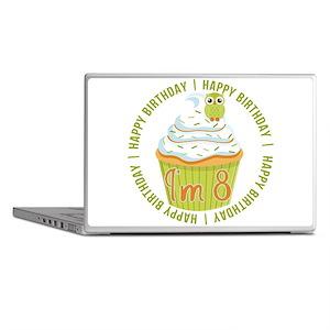 8th Birthday Cupcake Laptop Skins