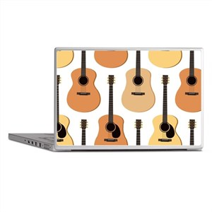 Acoustic Guitars Pattern Laptop Skins