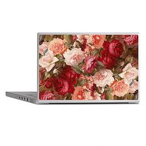 Floral Pink Roses Laptop Skins