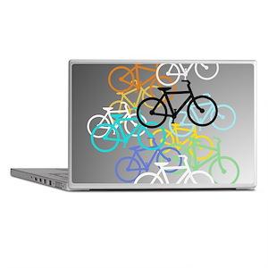 Colored Bikes Design Laptop Skins