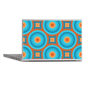 Orange and Blue Mid Century Modern Laptop Skins