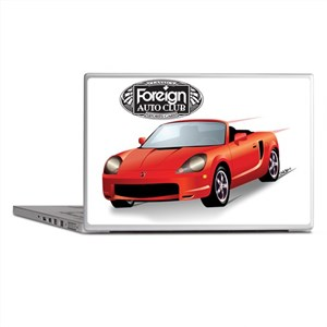 Foreign Auto Club - Red Japanese 2 Laptop Skins