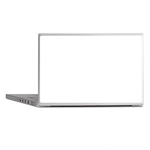 Teal and Black Chevron Polka Dots Laptop Skins