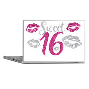 Sweet Sixteen 16 Birthday Glitter Lip Laptop Skins