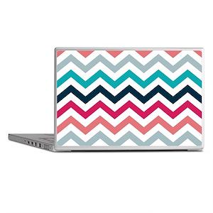 Pink & Blue Chevron Pattern Laptop Skins