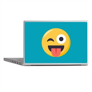 Winky Tongue Emoji Laptop Skins