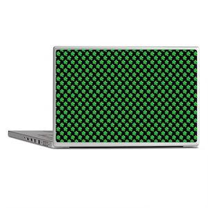 Meeple Pattern - Green Laptop Skins