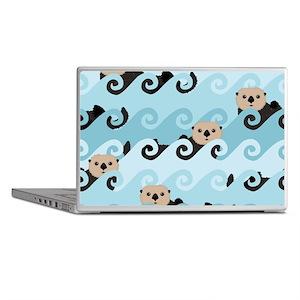 Cute Sea Otters Laptop Skins