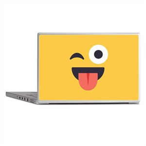 Winky Tongue Emoji Face Laptop Skins