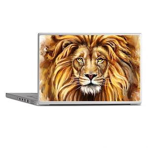 Artistic Lion Face Laptop Skins