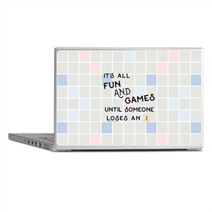 Scrabble All Fun and Games Laptop Skins
