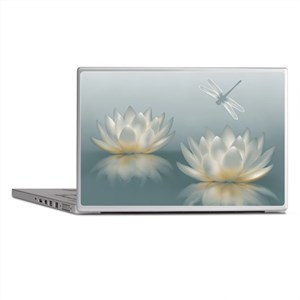 Lotus and Dragonfly Laptop Skins