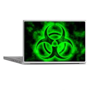 Green Biohazard Symbol Laptop Skins