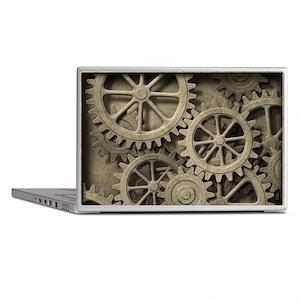 Steampunk Cogwheels Laptop Skins