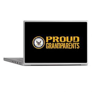U.S. Navy: Proud Grandparents (Black) Laptop Skins