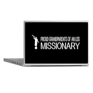 LDS: Proud Missionary Grandparents (B Laptop Skins