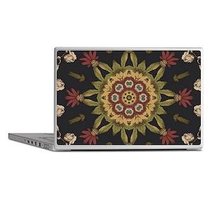hipster vintage floral mandala Laptop Skins