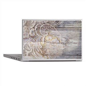 barn wood lace western country Laptop Skins