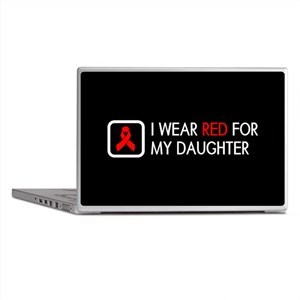 Red Ribbon: Red for my Daughter Laptop Skins